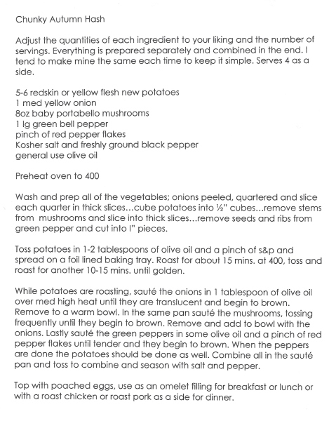 Chunky Autumn Hash recp