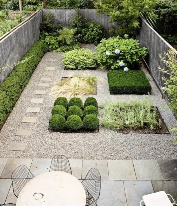Modern Backyards: Modern Pea Gravel Gardens